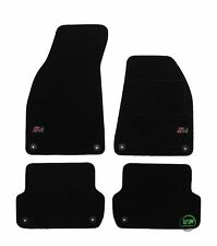 LOGO Fully Tailored black floor car mats fits A4 B6 B7  SALOON / ESTATE 4pcs set