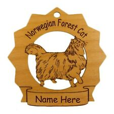 Norwegian Forest Cat Ornament Personalized With Your Cat's Name 7262