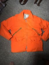 Woolrich Blaze Orange Hunting Parka Size Mens Medium Down Filled Puffer