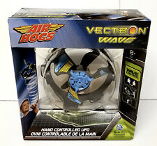 Air Hogs - Vectron Wave - Hand Controlled UFO Light FX Flyer BLUE - BLACK - NEW