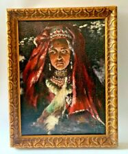 ORIENTALIST MIDDLE EASTERN PORTRAIT OIL PAINTING SIGNED