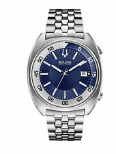 Bulova Accutron II 96B209 Men's Stainless Steel Blue Dial Date Watch