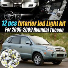 12Pc Super White Car Interior LED Light Kit Package for 2005-2009 Hyundai Tucson