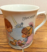 "Vtg Precious Moments ""Silent Knight"" 1984 by Enesco porcelain coffee /tea mug"
