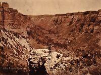 Vintage EDWARD CURTIS American Indian Crow Black Canyon GOLDTONE Photo Art 12x16