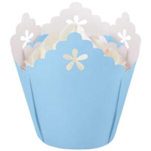 Wilton Blue Flower Pleated Baking Cups - 15 pcs