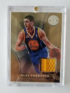 2012-13 PANINI TOTALLY CERTIFIED KLAY THOMPSON ROOKIE CARD PATCH (GOLD) #93  /10