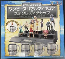 Unused Japanese Seven Eleven Limited One Piece Real Figure & Stainless Steel Mug