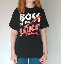 Boss Of The Sauce Bbq Grill Summer Uniform T Shirt M Unisex Chef Black Cook Out