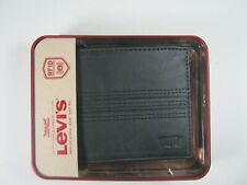 Levi's Men's Bifold Leather Wallet RFID Blocking Brown Tan Gray Black