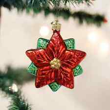 """Old World Christmas """"Poinsettia Star"""" Glass Ornament  **FREE SHIPPING** NEW"""
