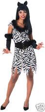Zebra Woman Stretch Velvet Adult Costume - Standard