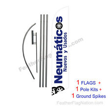Neumaticos Nuevos Y Usados 15' Feather Banner Swooper Flag Kit with pole+spike