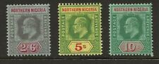 NORTHERN NIGERIA  SG 37/9  1911 TOP VALUES   FINE MOUNTED MINT
