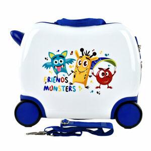 TROLLEY per BAMBINI cavalcabile valigia bagaglio a mano bambino bambina 4 ruote