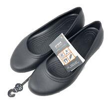 CROCS Black At Work Flat Size Women's US 8 EUR 38-39 205074 Slip Resistant New