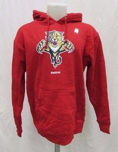 Florida Panthers Men's S M XL Pullover Hoodie Sweatshirt NHL Reebok Red