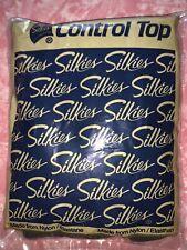 Silkies ~ 1 Pair Women's Pantyhose Control Top Panty Hose Off Black ~ L
