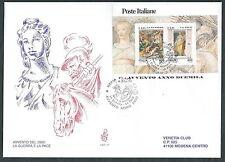 2000 ITALIA FDC VENETIA 1067 FOGLIETTO GUERRA PACE TIMBRO DI ARRIVO - ED