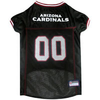 Arizona Cardinals Licensed NFL Pets First Dog Pet Jersey Black, Sizes XS-XXL