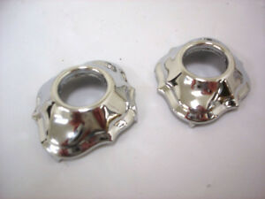 1928 1929 1930 1931 Ford Model A Chrome Plated Window Crank Escutcheons PAIR
