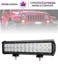 barre de lumière LED pour camion 12 pouces 126W Puissante imperméable+2 supports