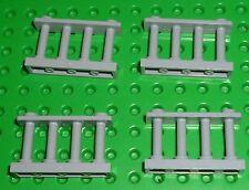 Lego-Zaun Anhängebolzen 1 x 4 x 2, leicht bläulich grau x 4 (30055) K174