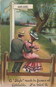 a australian old antique picture postcard australia adelaide romance comic