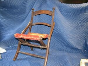 antique victorian childs chair original surface clean folding
