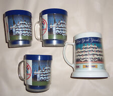 Yankees Team Baby Ruth Milk Duds Baseball 1 Plastic Beer Stein and 3 Mugs Unused