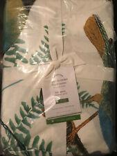 Pottery Barn Fauna Bird Print Full/Queen Duvet Cover NEW