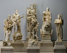 6 Greek Gods Zeus Poseidon Apollo Hermes Hephaestus Ares Statue Sculpture