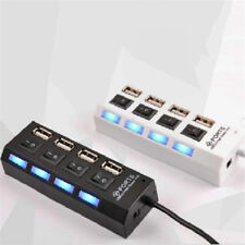 4 Port USB 3.0 Hub On/Off Switches + AC Power Adapter Cable for PC Laptop
