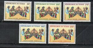 STAMPS - CHAD - 1991 - CHILDREN'S VACCINATION - MEDICAL -