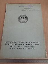 CATALOGO PARTI DI RICAMBIO ORIGINALE 1929 FIAT 521 CON MAGNETE