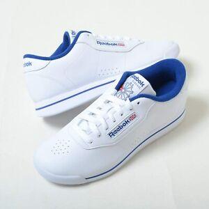 Reebok Princess FV5294 White Royal Blue Sneakers Womens Shoes Sizes 7-10