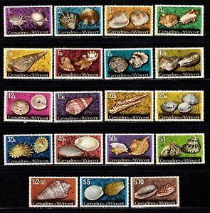 St. Vincent & Grenadines stamps #33 - 51, MNHOG, XF,  SCV $39.75
