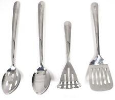 Set of 4 Stainless Steel Kitchen Utensils Masher Spoon,Slotted Turner