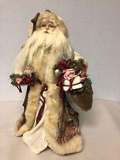 "Super Rare 1997 Roman Inc 16"" Santa With Gifts & Stick Tree Topper Figurine"