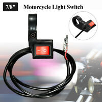 22mm 7/8'' Universale Moto Manubrio On Off Interruttore Faro Fanali Luci LED