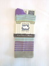 World's Softest Socks - Knit Pickin' Collection - Peacock Stripe - Crew - New