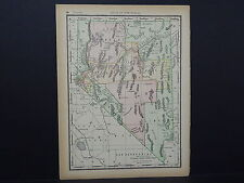 Antique Map 1894, Single Sided M4#80 Nevada
