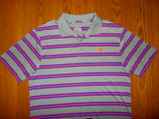 Under Armour Heat Gear Short Sleeve Striped Polo Shirt Mens Large Excellent Cond