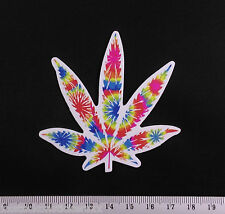 Psychedelic Weed Leaf Sticker Hippie Hemp 420 Cannabis Laptop Decal Skateboard