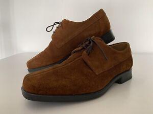 Men's M&S Air Flex Total Comfort Dark Tan Suede Lace Up Shoes UK 9 / EUR 43