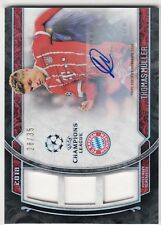2018 Topps Museum Collection Auto Triple Relic Thomas Muller Bayern 28/35