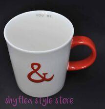 Starbucks Mug Ampersand You & Me Valentine Love Coffee Cup Red White Sweet