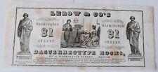 1840s advertising paper for Boston daguerreotype  photographer