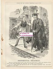 1905 Punch Cartoon Balfour Hugh Cecil Tariff Reform Preferential Treatment