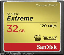 SANDISK - Sandisk Compact Flash Extreme 32GB (120MB/s lettura; 85MB/s scrittura)